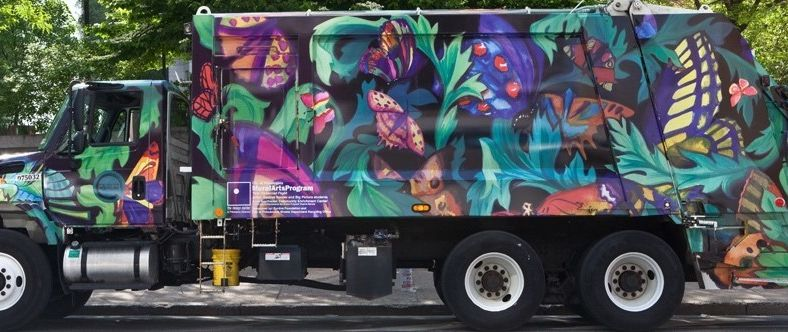 """A Design in Motion"" truck by Desireé Bender for Mural Arts (photo by Steve Weinik)"